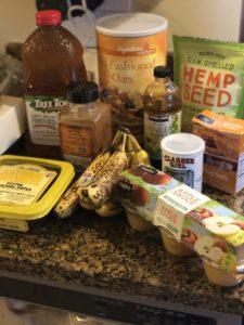 Banana Oat Date Muffins (GF/Vegan) ingredients