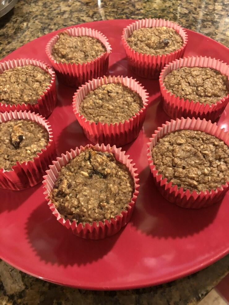 Banana Oat Date Muffins (GF/Vegan)