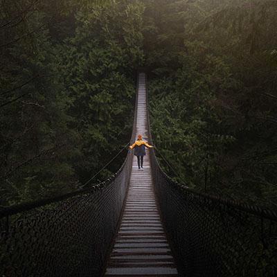 walking on bridge_square