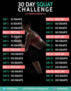 30 day challenges are easy to do at home